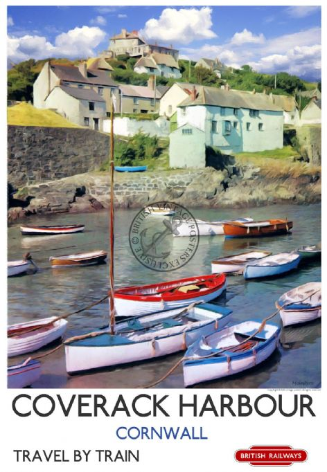 Coverack Poster Cornwall